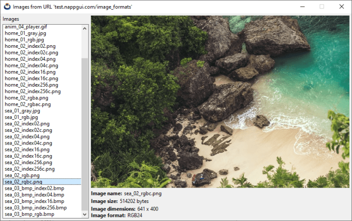 Capture an image viewer in Windows version.